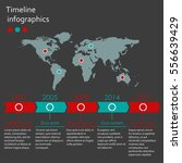 world map infographics template.... | Shutterstock .eps vector #556639429