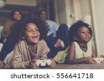 african descent family house... | Shutterstock . vector #556641718