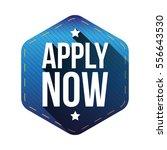 apply now hexagon label   Shutterstock .eps vector #556643530