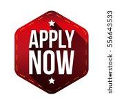 apply now hexagon label | Shutterstock .eps vector #556643533