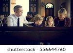church people believe faith... | Shutterstock . vector #556644760
