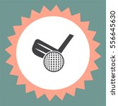 golf vector icon. ball and club ... | Shutterstock .eps vector #556645630