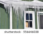Sharp Icicles In Front Of The...