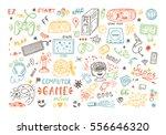 gadget icons vector set. hand... | Shutterstock .eps vector #556646320