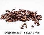 coffee beans isolated on white... | Shutterstock . vector #556646746