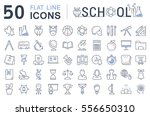 set vector line icons  sign and ... | Shutterstock .eps vector #556650310