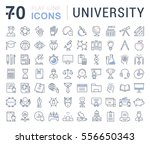 set vector line icons  sign and ... | Shutterstock .eps vector #556650343