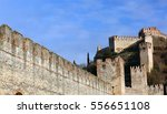 ancient castle of soave with...