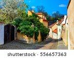 Old Cozy Street Of Hradcany In...