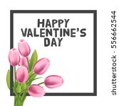 valentines day greeting card... | Shutterstock .eps vector #556662544
