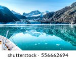 cruise ship in glacier bay... | Shutterstock . vector #556662694