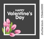 valentines day greeting card... | Shutterstock .eps vector #556663000
