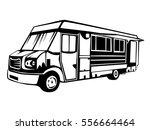 street food truck vector... | Shutterstock .eps vector #556664464