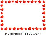 frame of hearts. valentine's day | Shutterstock .eps vector #556667149