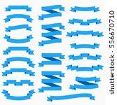 ribbon set in flat style... | Shutterstock .eps vector #556670710