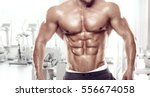 muscular bodybuilder guy... | Shutterstock . vector #556674058