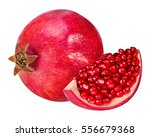 pomegranate isolated on white... | Shutterstock . vector #556679368