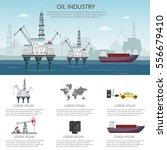 vector oil rig industry... | Shutterstock .eps vector #556679410
