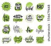 vector eco  organic  bio logos... | Shutterstock .eps vector #556679668