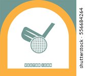 golf vector icon. ball and club ... | Shutterstock .eps vector #556684264