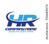 hr logo | Shutterstock .eps vector #556685074
