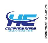 he logo | Shutterstock .eps vector #556685098