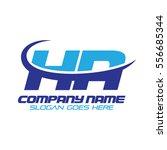 ha logo | Shutterstock .eps vector #556685344
