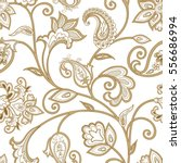 floral pattern. flourish tiled... | Shutterstock .eps vector #556686994