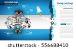 startup landing webpage or... | Shutterstock .eps vector #556688410