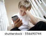 cyber bullying by mobile cell... | Shutterstock . vector #556690744