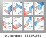 set of brochure templates ... | Shutterstock .eps vector #556691953
