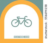 bicycle vector icon. healthy... | Shutterstock .eps vector #556694158