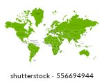 political map of the world.... | Shutterstock .eps vector #556694944