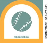 baseball vector icon. sport... | Shutterstock .eps vector #556695634