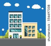simple vector office buildings... | Shutterstock .eps vector #556697338