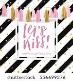 lettering valentine's day... | Shutterstock .eps vector #556699276
