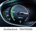 hybrid car illuminated... | Shutterstock . vector #556702060