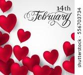 red 3d romantic valentine... | Shutterstock .eps vector #556703734