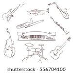 set of musical instruments... | Shutterstock .eps vector #556704100