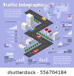 modern flat isometric city road ... | Shutterstock .eps vector #556704184