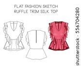 flat fashion technical sketch   ... | Shutterstock . vector #556704280