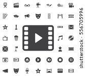 video play icon on the white...   Shutterstock .eps vector #556705996