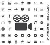 cinema camera icon | Shutterstock .eps vector #556706290