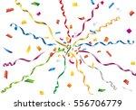 colorful confetti and streamer... | Shutterstock .eps vector #556706779