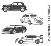 set of retro cars icons... | Shutterstock .eps vector #556708828