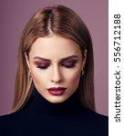 fashion beauty portrait of... | Shutterstock . vector #556712188