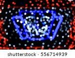 blurry christmas lights festive ... | Shutterstock . vector #556714939