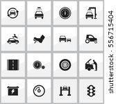set of 16 editable vehicle... | Shutterstock .eps vector #556715404
