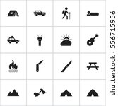 set of 16 editable trip icons.... | Shutterstock .eps vector #556715956