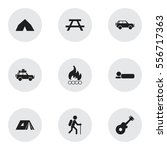 set of 9 editable travel icons. ...
